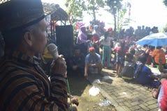 Sadranan en la ciudad de Sendanggede de Semarang Imágenes de archivo libres de regalías