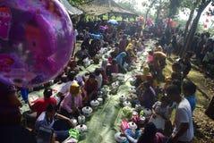 Sadranan en la ciudad de Sendanggede de Semarang Foto de archivo