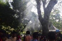 Sadranan en la ciudad de Sendanggede de Semarang Fotografía de archivo libre de regalías