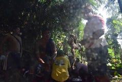 Sadranan i den Sendanggede staden av semarang Arkivfoto
