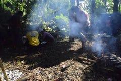 Sadranan nella città di Sendanggede di Samarang Fotografie Stock Libere da Diritti