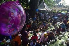Sadranan nella città di Sendanggede di Samarang Fotografia Stock Libera da Diritti