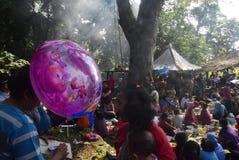Sadranan nella città di Sendanggede di Samarang Immagini Stock