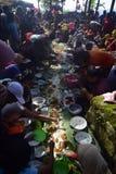 Sadranan nella città di Sendanggede di Samarang Fotografia Stock