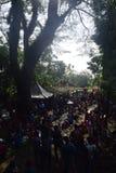 Sadranan nella città di Sendanggede di Samarang Immagine Stock