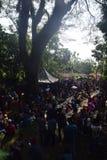 Sadranan in Sendanggede-stad van Semarang Stock Foto's