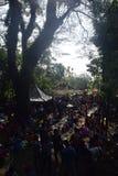 Sadranan in Sendanggede-stad van Semarang Stock Fotografie