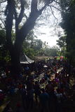 Sadranan in Sendanggede-stad van Semarang Stock Afbeelding