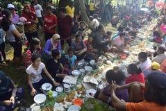 Sadranan in Sendanggede-Stadt von Semarang Stockbild