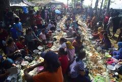 Sadranan w Sendanggede mieście Semarang Obraz Stock