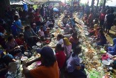 Sadranan w Sendanggede mieście Semarang Fotografia Stock