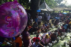 Sadranan w Sendanggede mieście Semarang Zdjęcie Royalty Free