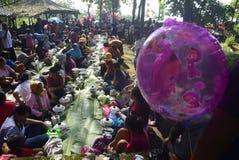 Sadranan w Sendanggede mieście Semarang Zdjęcia Royalty Free