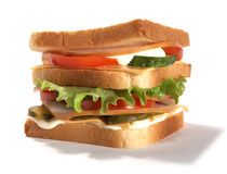 Sadwich Imagens de Stock