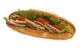 Sadwich do peito de turquia imagem de stock royalty free