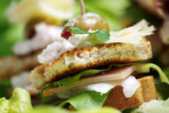Sadwich mit Käse Stockbilder