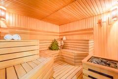 Sadza parowego pokój drewniany zdjęcie stock