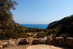 Sea, bay, Lissos, Crete Greece Royalty Free Stock Photography
