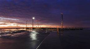 Sae mona vale pool way dusk Stock Photo