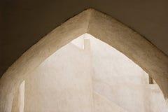 saeed Al马克图姆House回教族长迪拜阿拉伯联合酋长国建筑细节  免版税库存照片