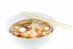 Saefood  soup. Hot  saefood  soup and shrimp Royalty Free Stock Images