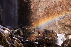 Saent vattenfall Royaltyfri Fotografi