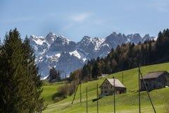 saentis山脉瑞士 免版税库存照片
