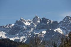 saentis山脉瑞士 库存照片