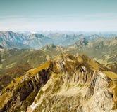 Saentis山风景,瑞士阿尔卑斯 免版税库存图片