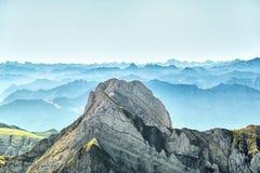 Saentis山风景 免版税库存照片