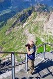 Saentis berg, schweiziska fjällängar Arkivbilder
