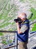 Saentis berg, schweiziska fjällängar Royaltyfri Foto