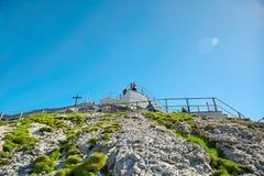 Saentis berg, schweiziska fjällängar Fotografering för Bildbyråer