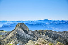 Saentis berglandskap Arkivfoto