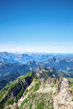 Saentis berglandskap Fotografering för Bildbyråer