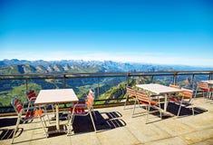Saentis berglandskap, schweiziska fjällängar Royaltyfri Bild