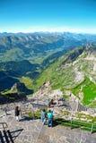 Saentis berglandskap, schweiziska fjällängar Arkivbilder