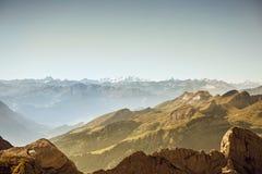 Saentis berglandskap, schweiziska fjällängar Royaltyfria Foton