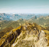Saentis Mountain landscape, Swiss Alps Royalty Free Stock Images