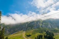 Saentis Seilbahn, Schwaegalp - Швейцария Стоковая Фотография RF