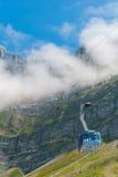 Saentis Seilbahn, Schwaegalp - Schweiz Arkivbilder