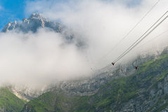 Saentis Seilbahn, Schwaegalp - Schweiz Royaltyfri Foto