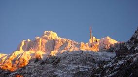 SaentisMountain в зиме Стоковая Фотография RF