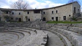 Saepinum (阿尔蒂利亚),莫利塞,意大利废墟  库存图片