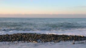 Saeshore Vorderansicht der Seewelle stock video footage