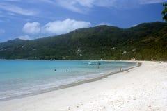 Saeshore white sand  sunlite Stock Images