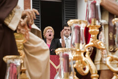 `Saetera' singing during procession  holy monday Royalty Free Stock Image