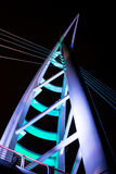Saeyeon Bridge Colored Lights Architecture Black background Royalty Free Stock Photo