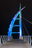 Saeyeon Bridge Colored Lights Architecture Black background Stock Photos