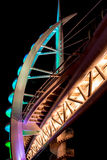 Saeyeon Bridge Colored Lights Architecture Black background Stock Photography